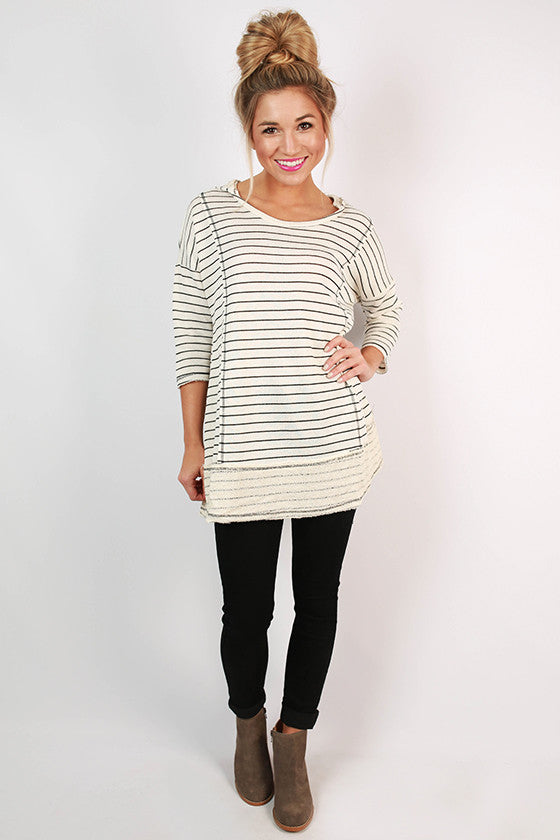 Savannah Stripes Hooded Tunic