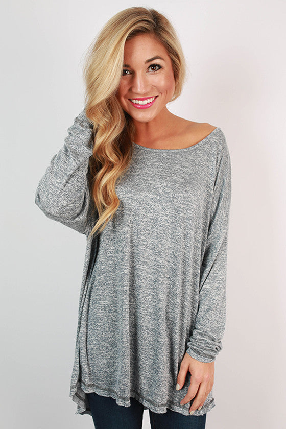 Memories Made Jersey Knit Tunic in Navy