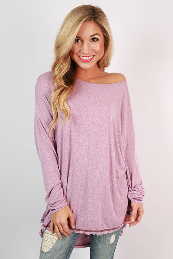 Memories Made Jersey Knit Tunic in Violet