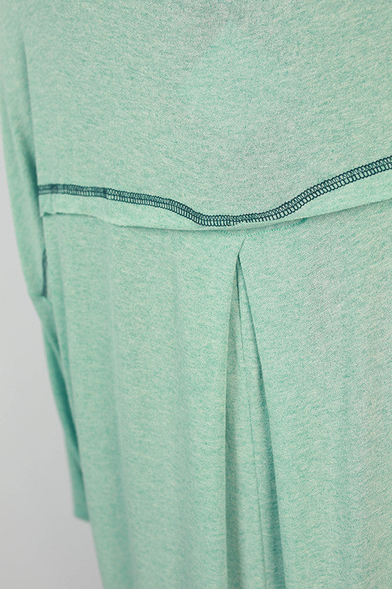 Memories Made Jersey Knit Tunic in Aqua Sky