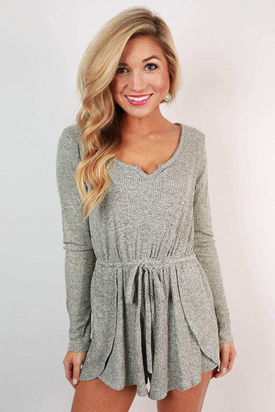 Villa in the Mountains Sweater Romper