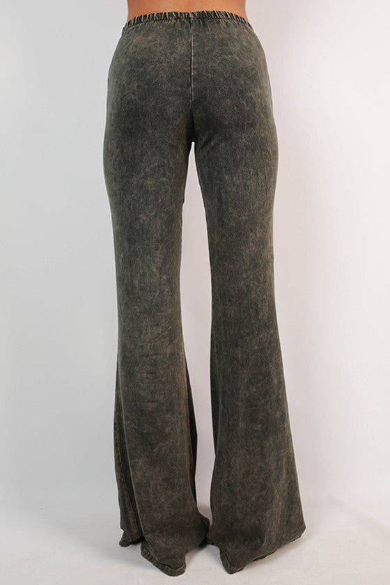 All the Stops Flare Pants in Deep Forest