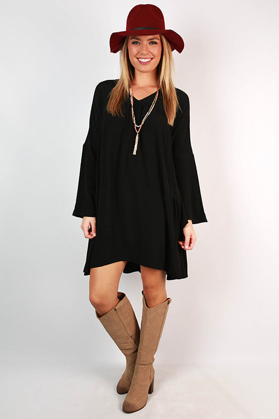 Show Stopper Babydoll Dress in Black