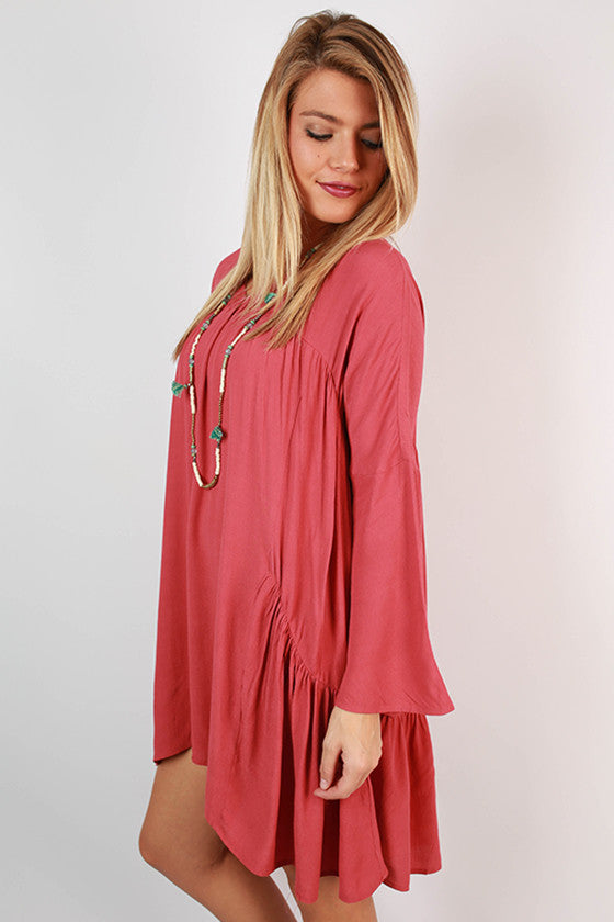 Show Stopper Babydoll Dress in Light Rose