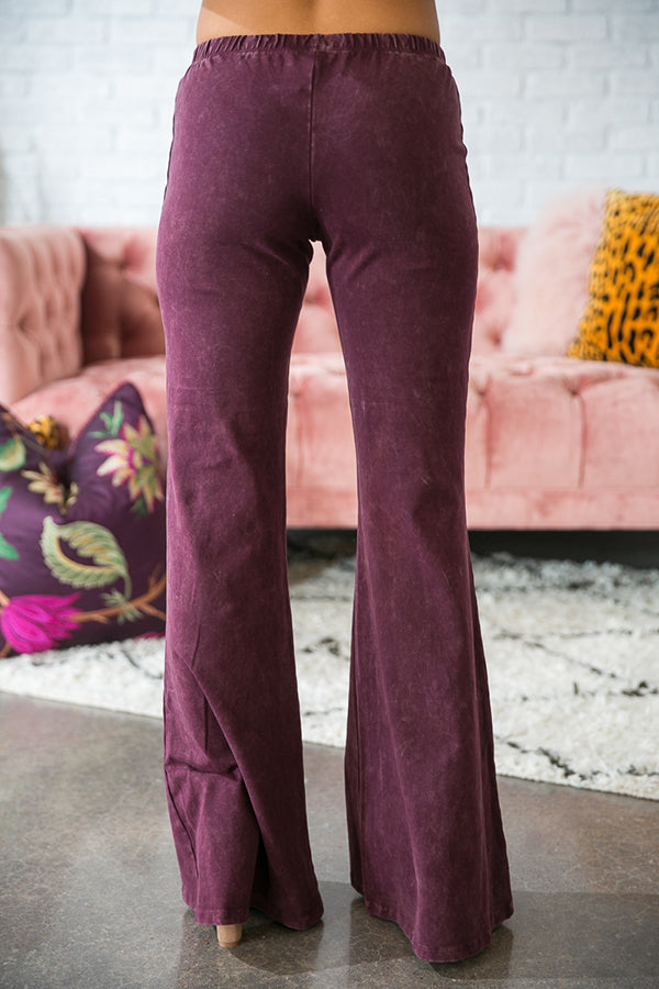 All The Stops Flare Pants in Windsor Wine