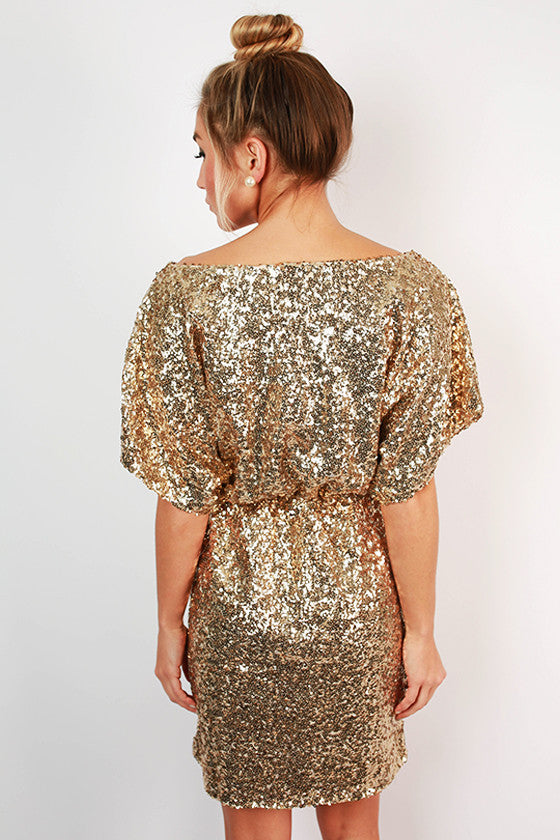 Sipping Bubbly Sequin Dress