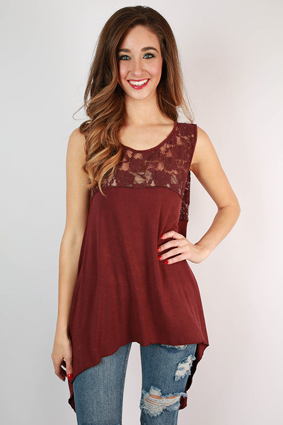 Captivating Lace Swing Tank