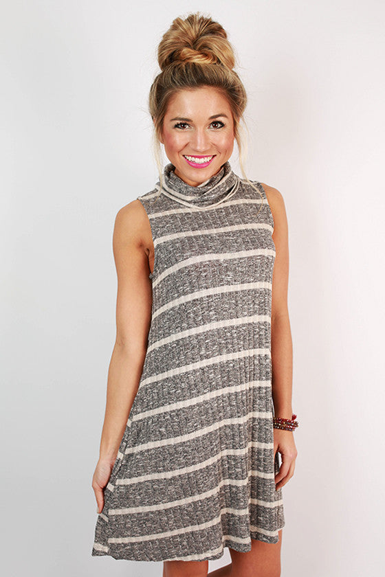 Twice the Stripes Tank Dress