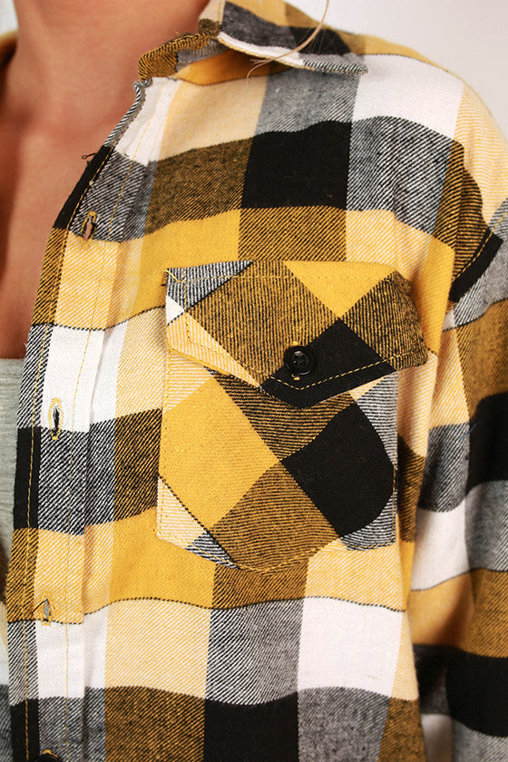 Cozy For Days Unisex Flannel in Yellow