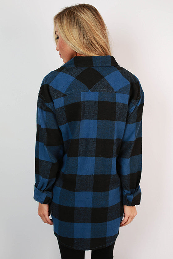 Cozy For Days Unisex Flannel in Cobalt Blue