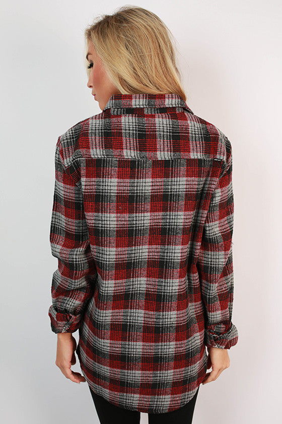 Cozy For Days Unisex Flannel in Grey