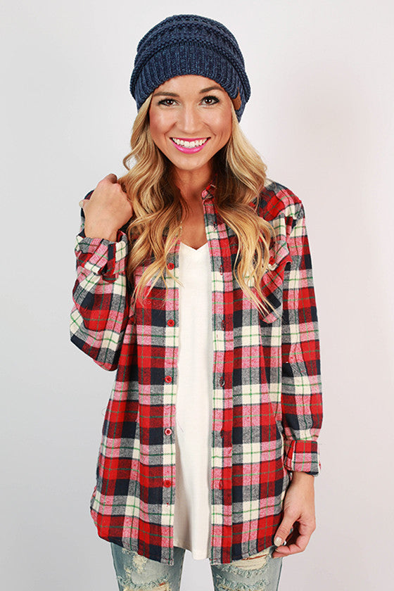 Cozy For Days Unisex Flannel in Cardinal