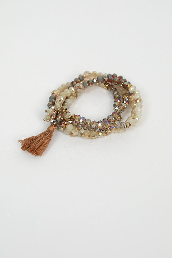 Sparkle & Shake Bracelet Set in Mocha
