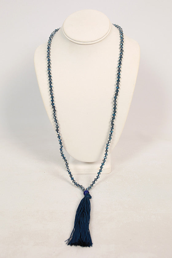 Gatsby Life Necklace in Indigo Blue