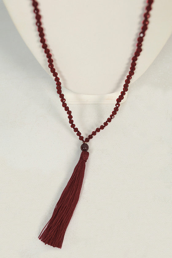 Gatsby Life Necklace in Burgundy