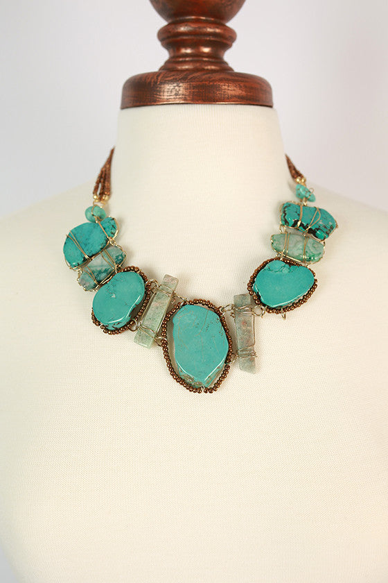 Blow Me a Kiss Statement Necklace