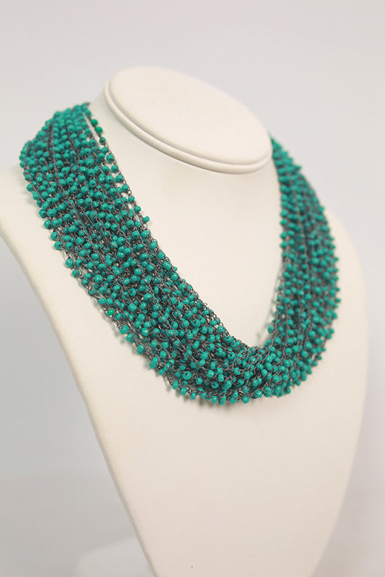 Boho Charm Layered Necklace in Turquoise