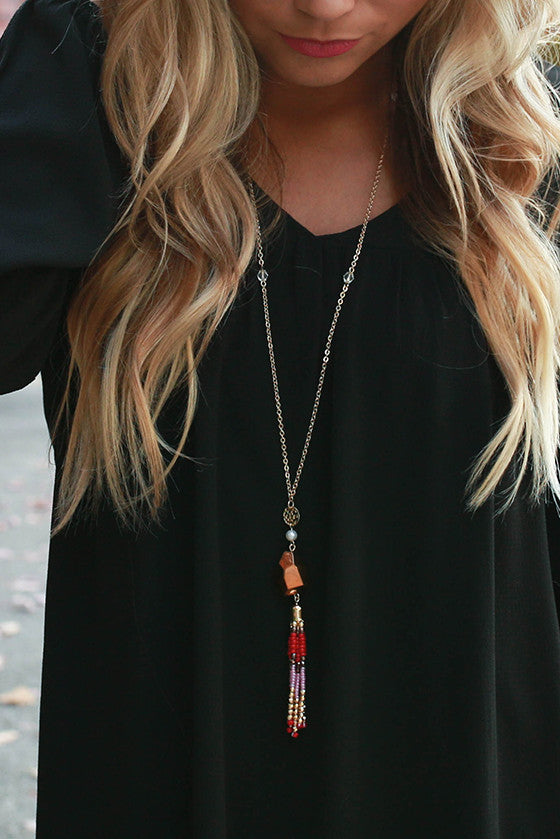 Traveling Abroad Tassel Necklace
