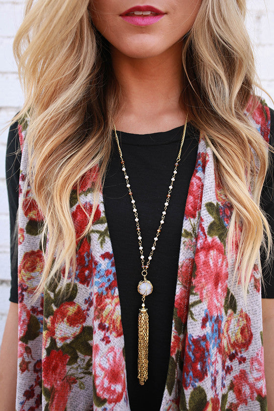Love in London Tassel Necklace