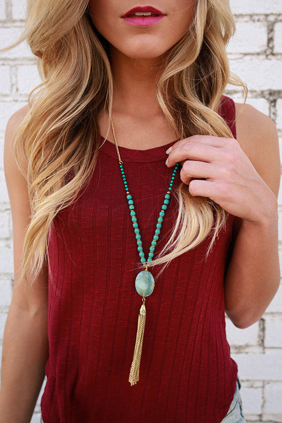 Romance in Europe Tassel Necklace