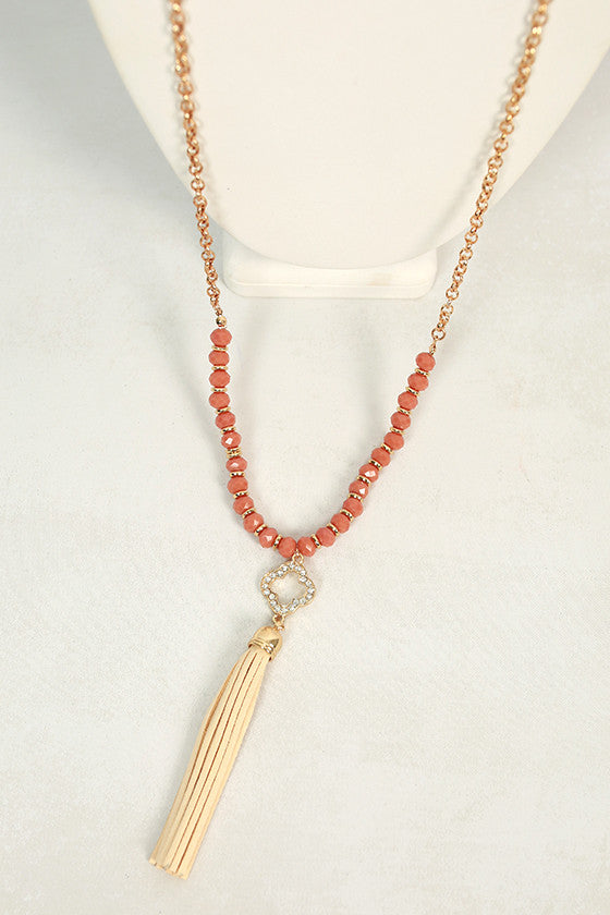 Talk French to Me Tassel Necklace