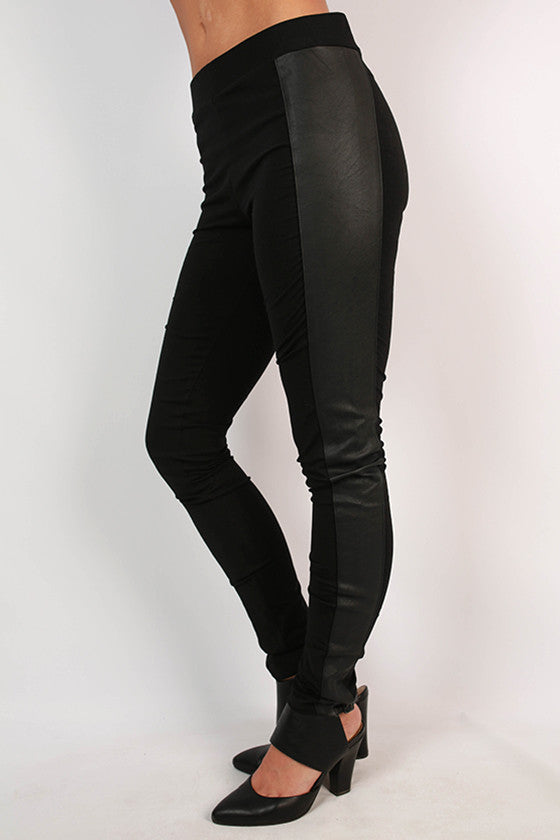 The Blake Faux Leather Legging