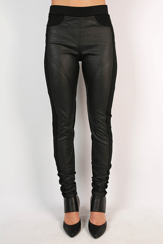 The Grace Faux Leather Legging