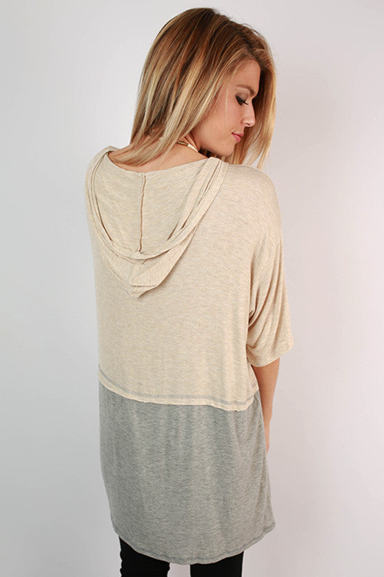 Rainy Day Latte Hooded Tunic