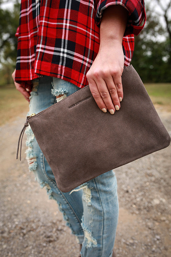 Meet Me At Fashion Week Clutch in Smoky Black