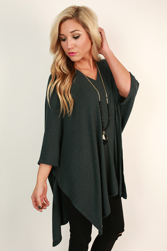 Cozy On Repeat Tunic in Deep Teal