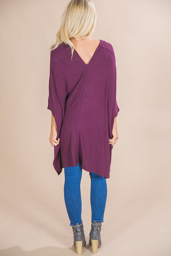 Cozy On Repeat Tunic in Windsor Wine