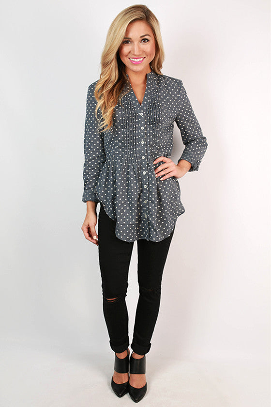 Napa Tasting Button Up in Slate
