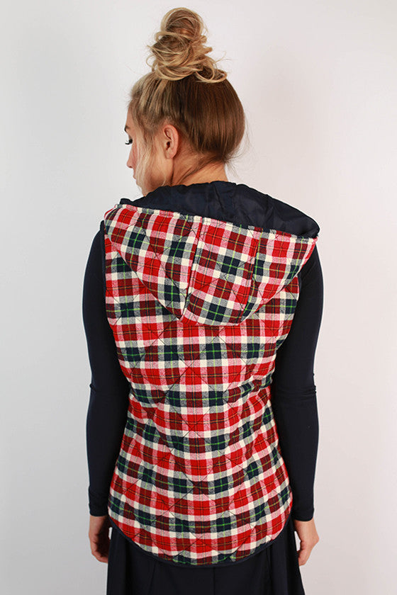 Prep It Up Plaid Quilted Vest
