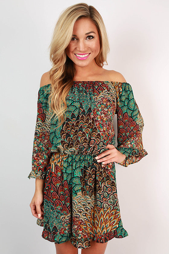 Sweet Soiree Ruffle Printed Dress