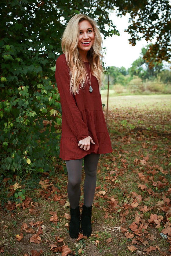 Sun Valley Swing Tunic in Crimson