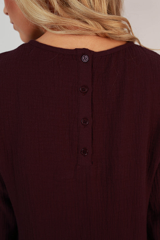 Sun Valley Swing Tunic in Royal Plum