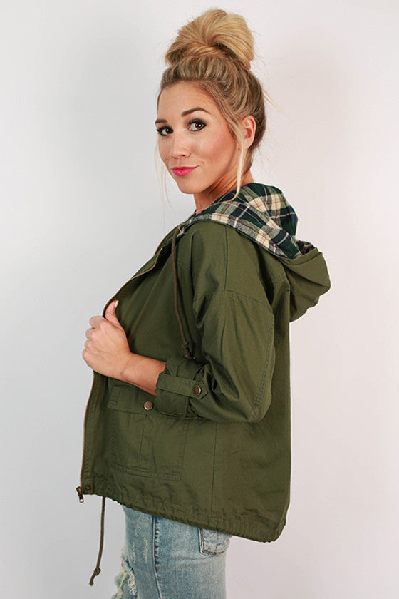 World Traveler Plaid Hood Jacket
