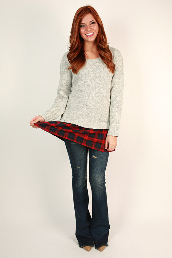 Snowfall & Cocktails Tunic Sweater