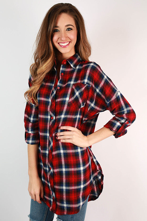 Porch Party Plaid Top