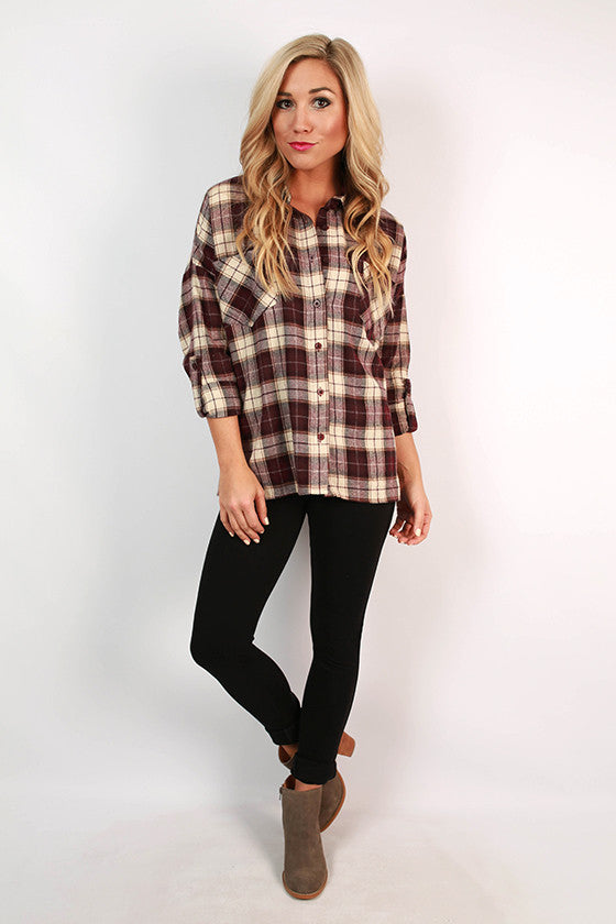 Keeping Traditions Button Up Plaid Top