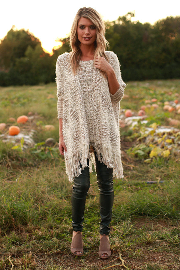 Tips For Knitting Your First Sweater : The first snowfall knit sweater in taupe impressions