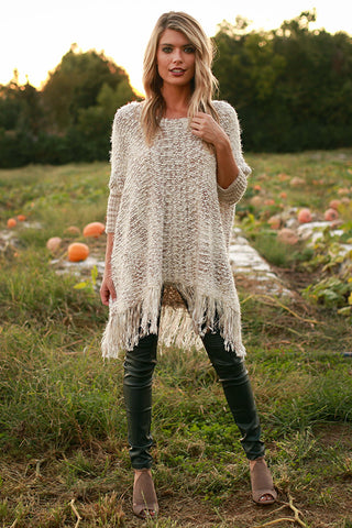 The First Snowfall Knit Sweater in Taupe