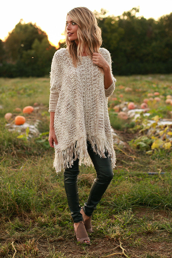 The First Snowfall Knit Sweater in Taupe • Impressions ... - photo#45
