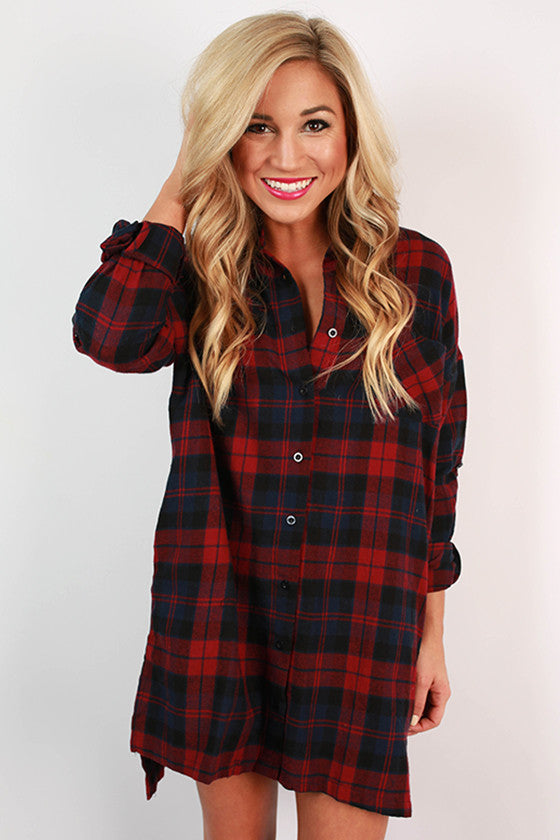 The Good Days Plaid Tunic
