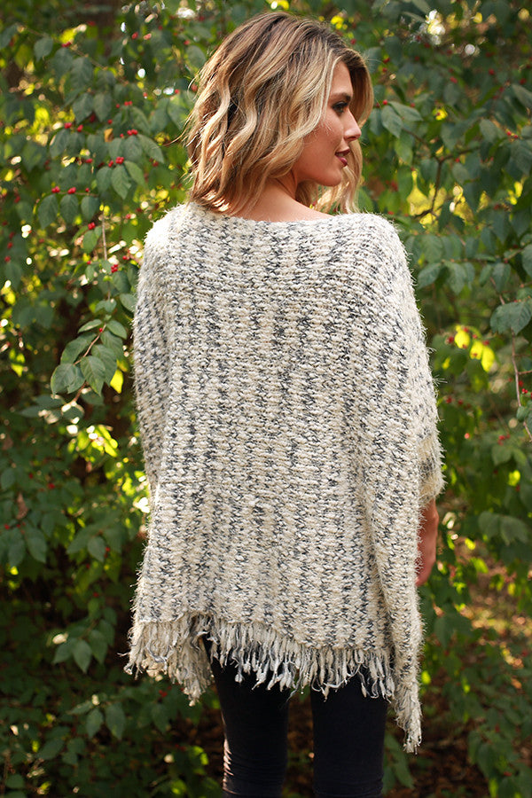 The First Snowfall Knit Sweater in Slate