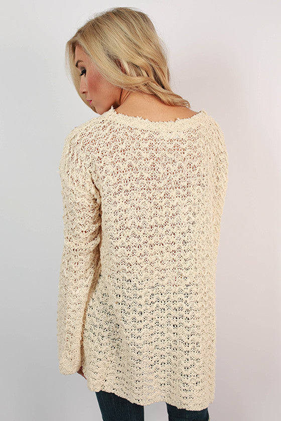 Soft & Sweet Knit Sweater in Cream
