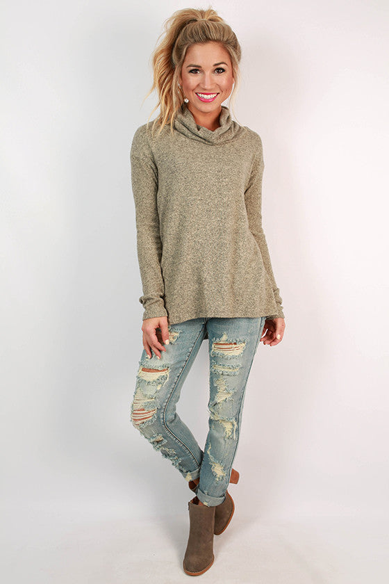 Cafe Play Date Sweater in Taupe
