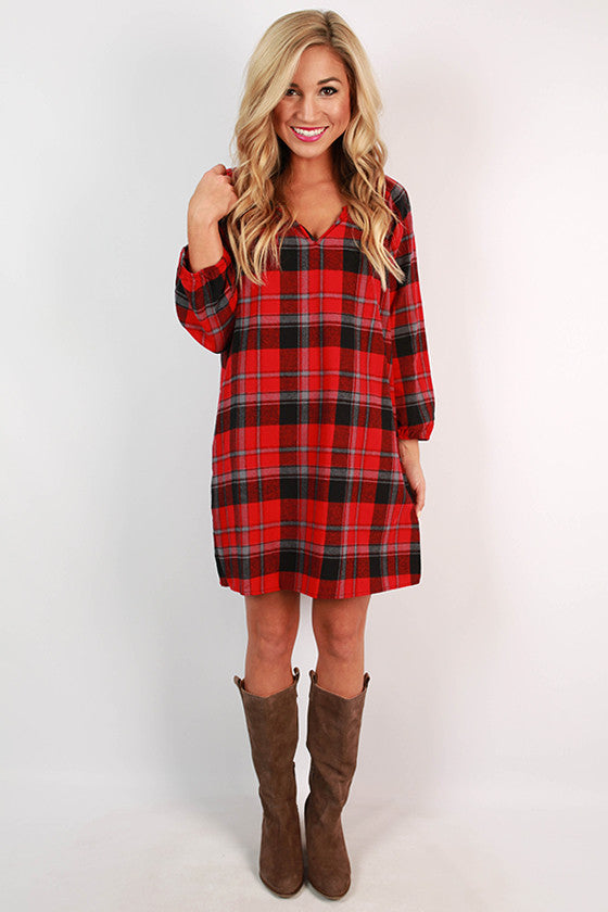 Southern Prep Plaid Dress