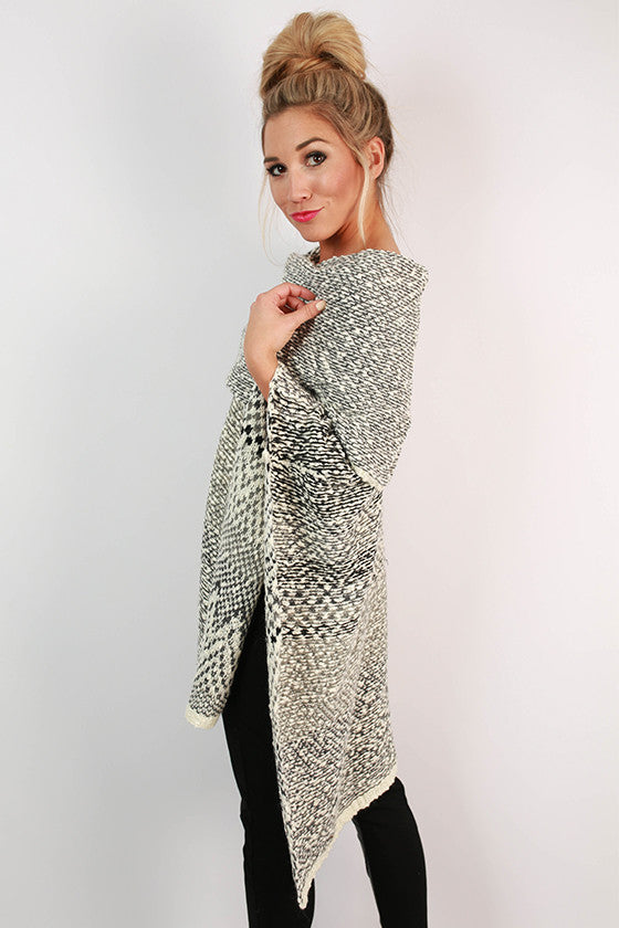 Snowflakes in Soho Knitted Poncho
