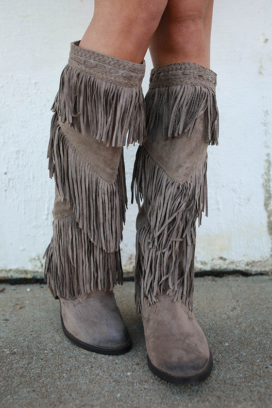 Witty Giddy Fringe Boot